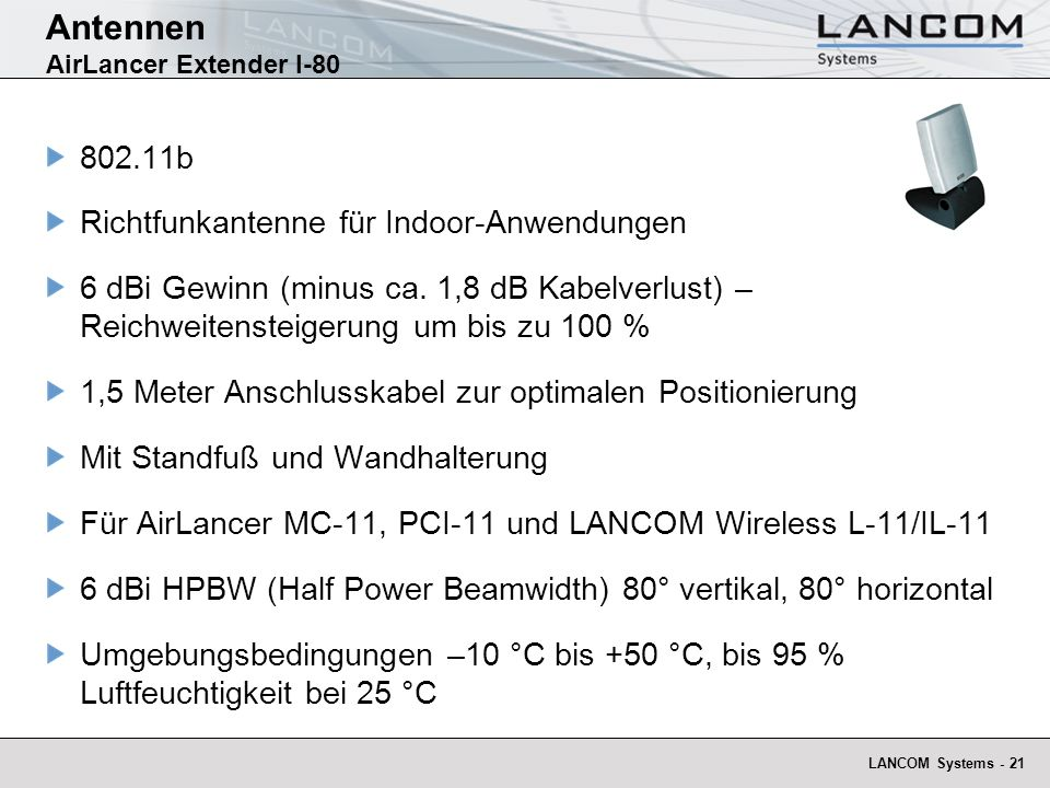 Antennen AirLancer Extender I-80