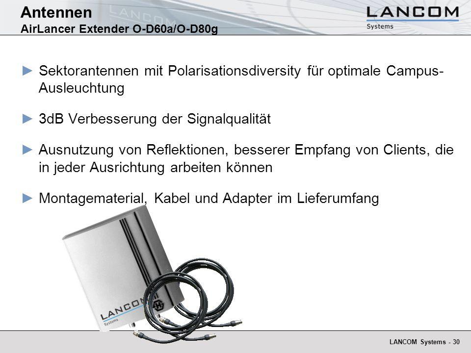 Antennen AirLancer Extender O-D60a/O-D80g