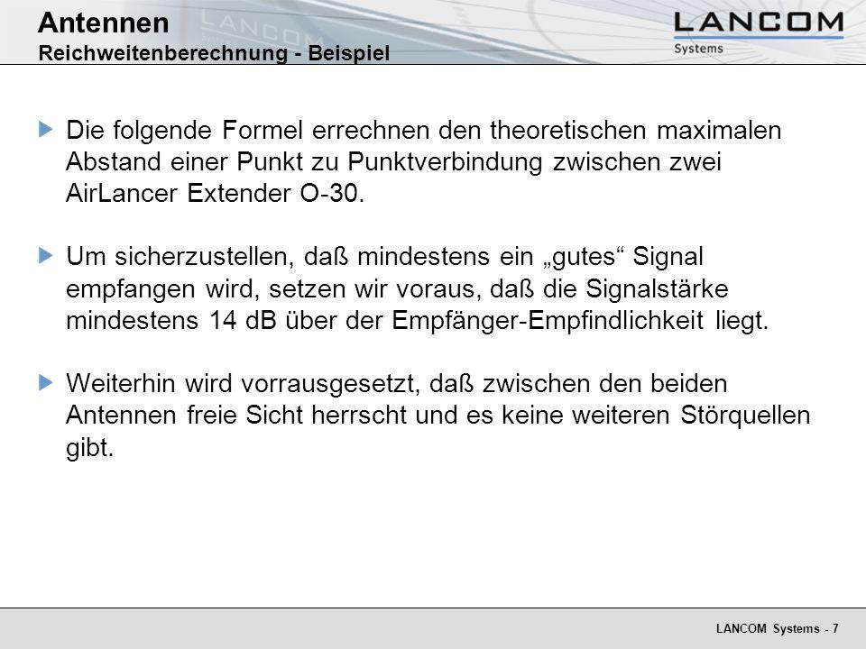 Antennen Reichweitenberechnung - Beispiel