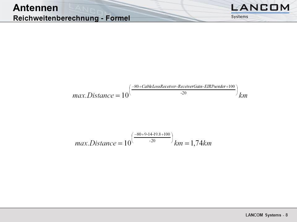 Antennen Reichweitenberechnung - Formel