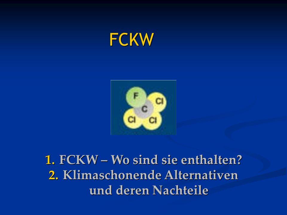 FCKW FCKW – Wo sind sie enthalten