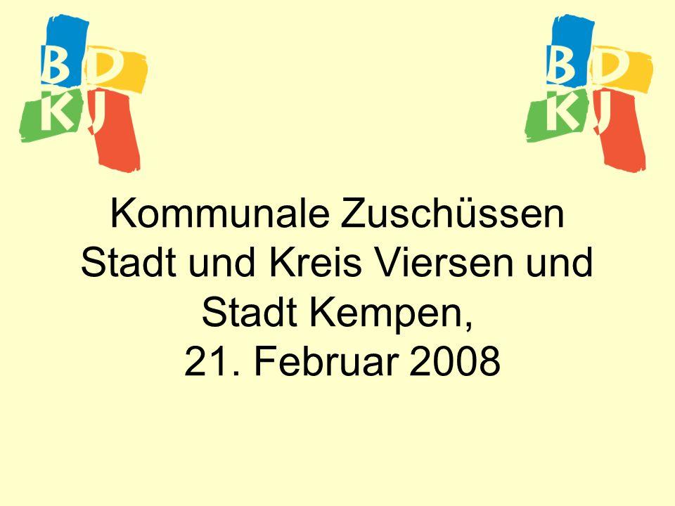 Kommunale Zuschüssen Stadt und Kreis Viersen und Stadt Kempen, 21