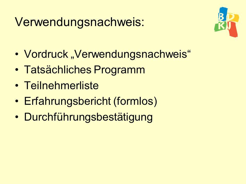 Verwendungsnachweis: