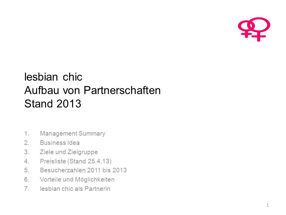 lesbian chic Aufbau von Partnerschaften Stand 2013