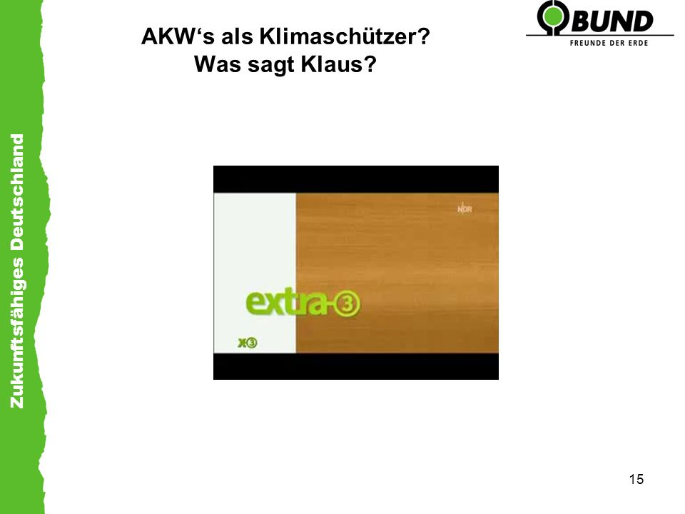 AKW's als Klimaschützer Was sagt Klaus