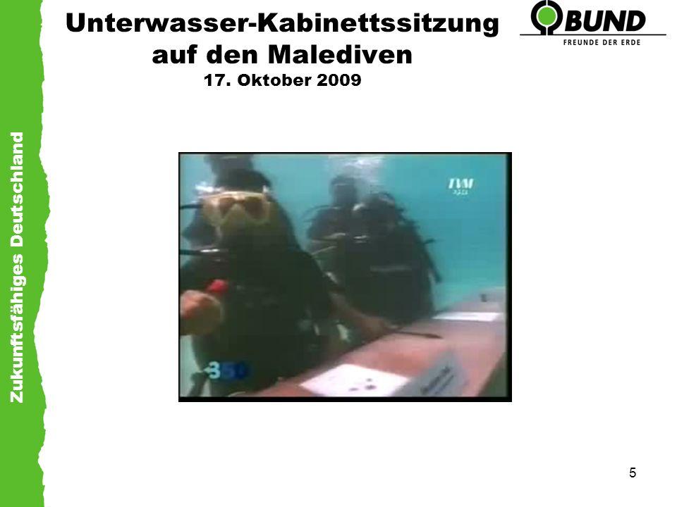 Unterwasser-Kabinettssitzung auf den Malediven 17. Oktober 2009