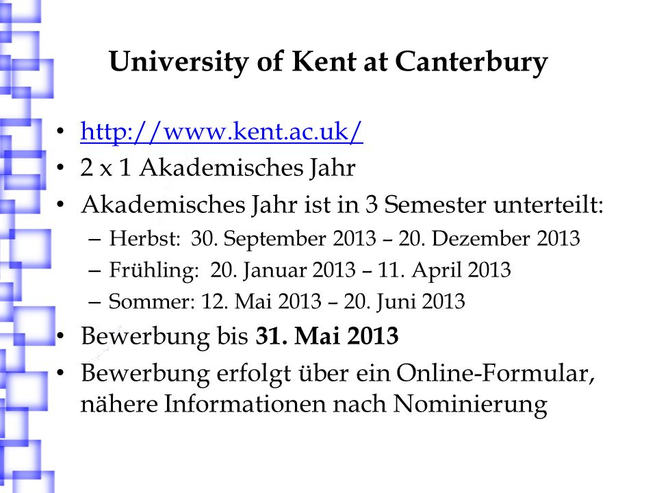 University of Kent at Canterbury