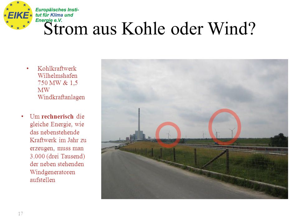 Strom aus Kohle oder Wind