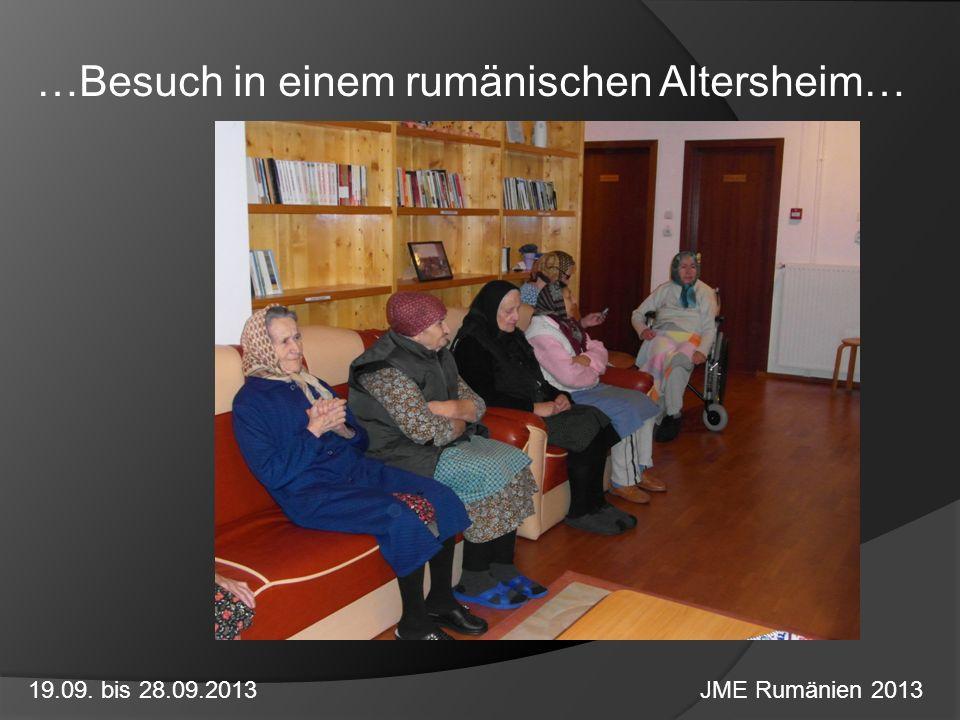 …Besuch in einem rumänischen Altersheim…