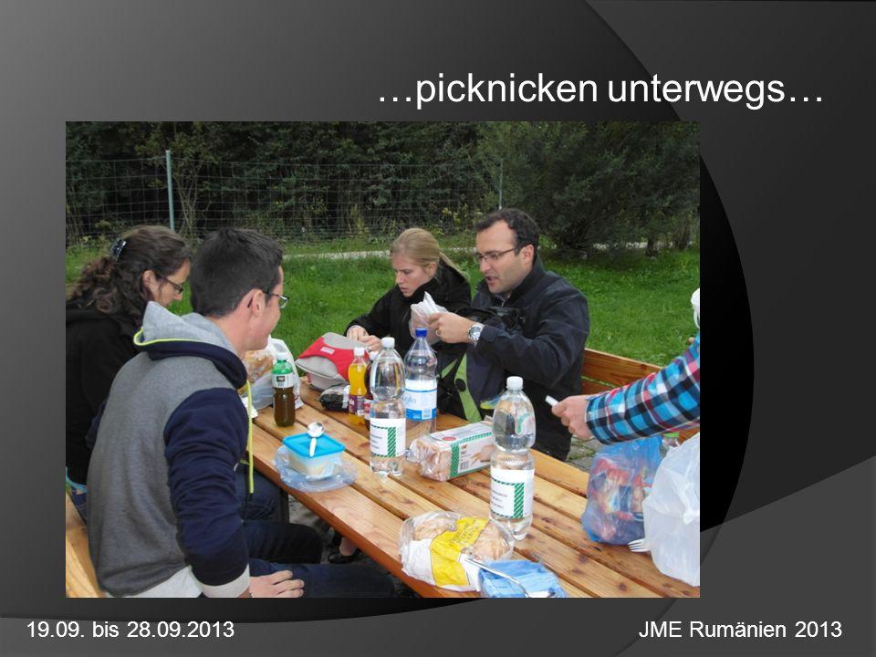 …picknicken unterwegs…