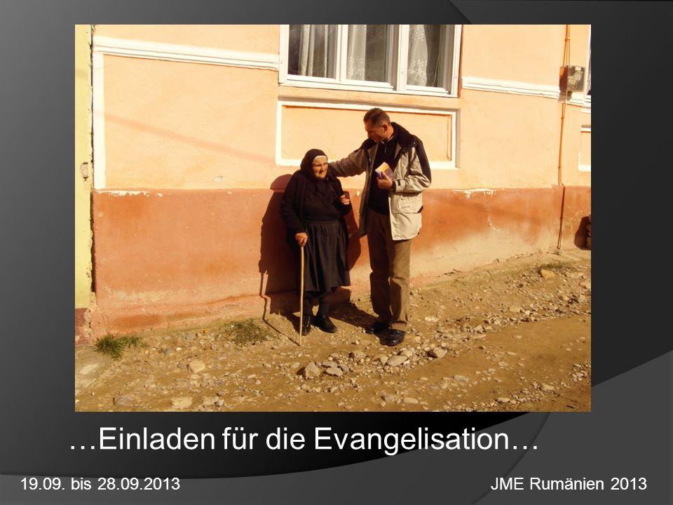 …Einladen für die Evangelisation…