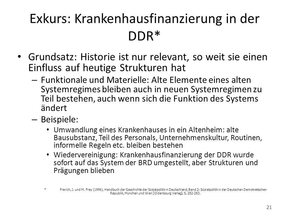 Exkurs: Krankenhausfinanzierung in der DDR*