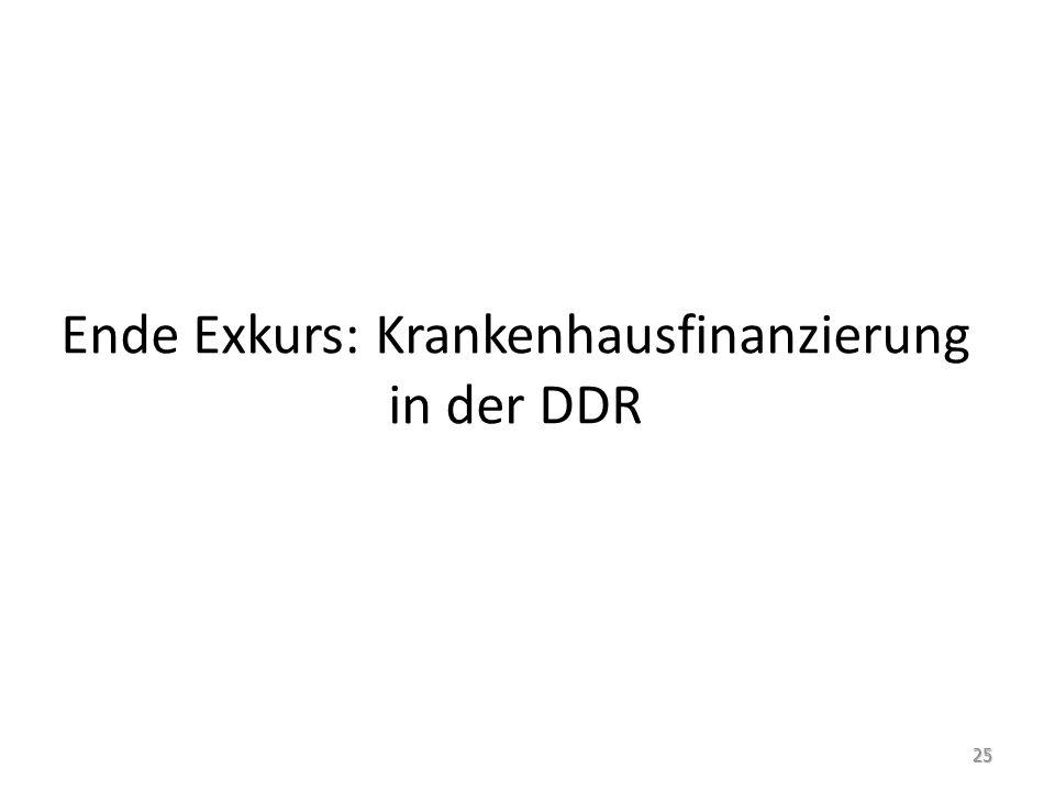 Ende Exkurs: Krankenhausfinanzierung in der DDR