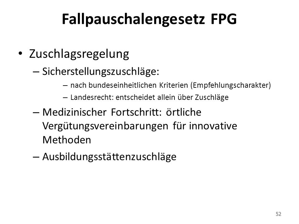 Fallpauschalengesetz FPG