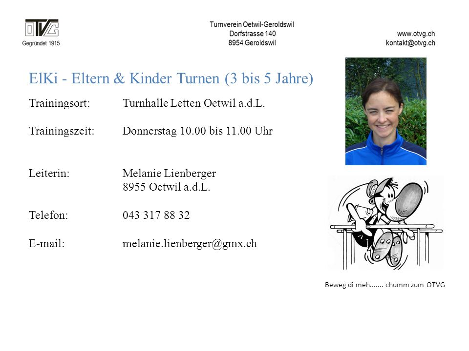 ElKi - Eltern & Kinder Turnen (3 bis 5 Jahre)
