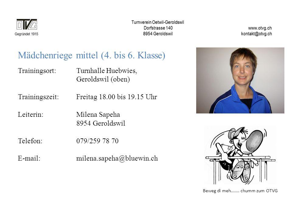 Mädchenriege mittel (4. bis 6. Klasse)
