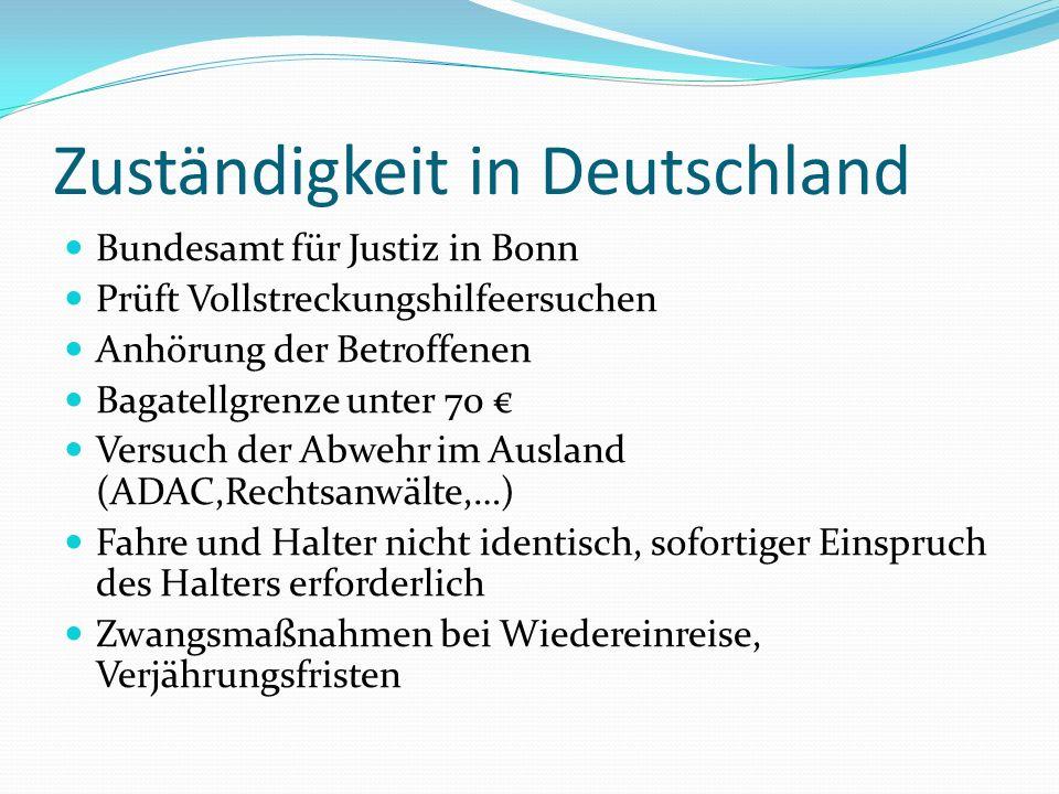 Zuständigkeit in Deutschland