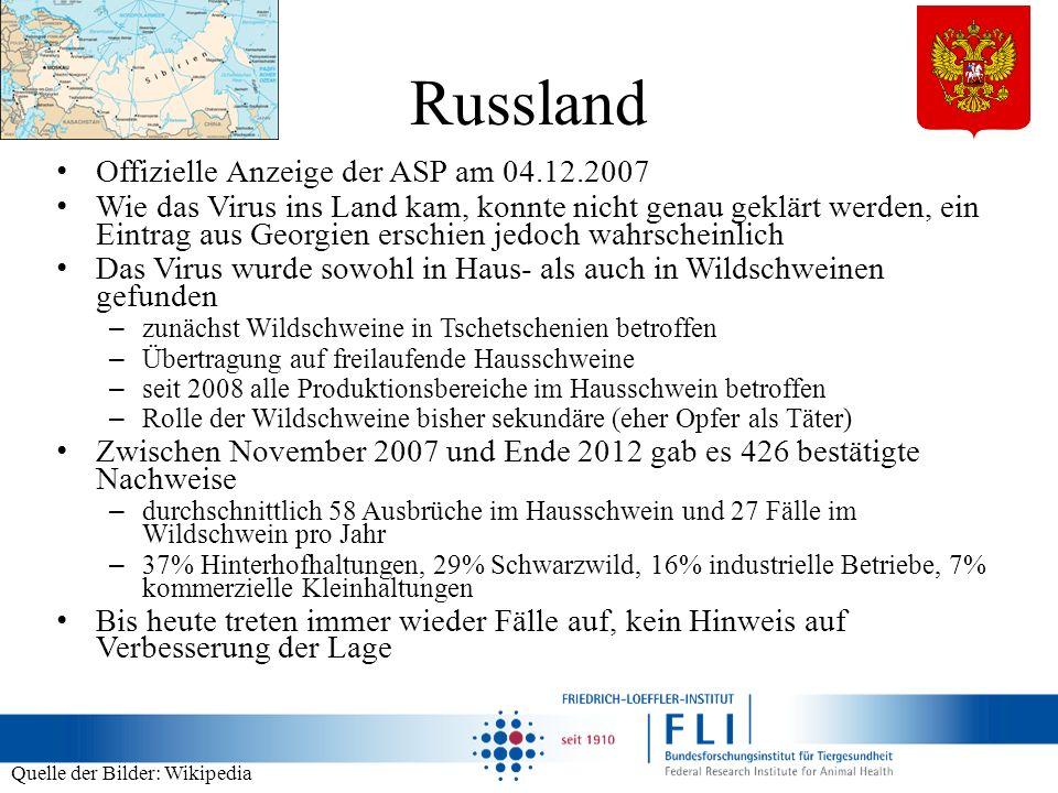 Russland Offizielle Anzeige der ASP am 04.12.2007
