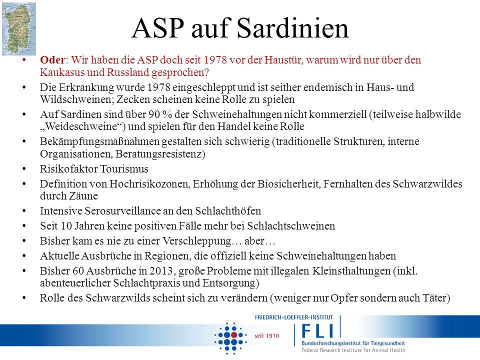 ASP auf Sardinien Oder: Wir haben die ASP doch seit 1978 vor der Haustür, warum wird nur über den Kaukasus und Russland gesprochen