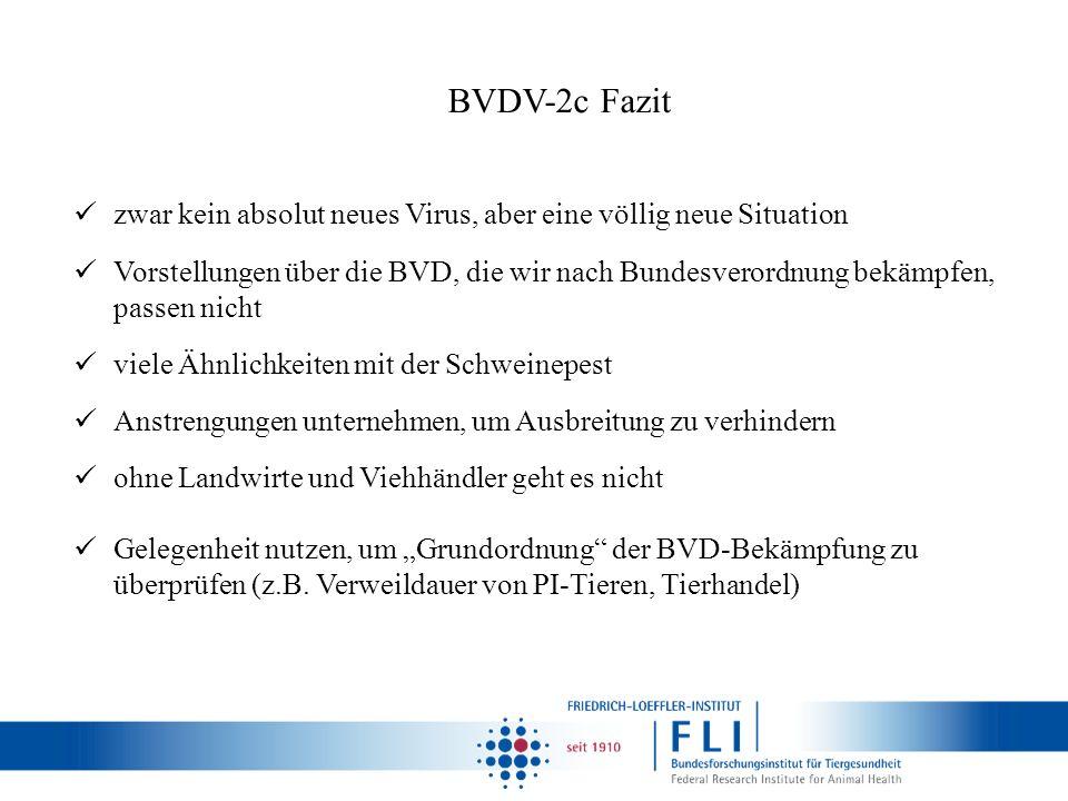BVDV-2c Fazit zwar kein absolut neues Virus, aber eine völlig neue Situation.