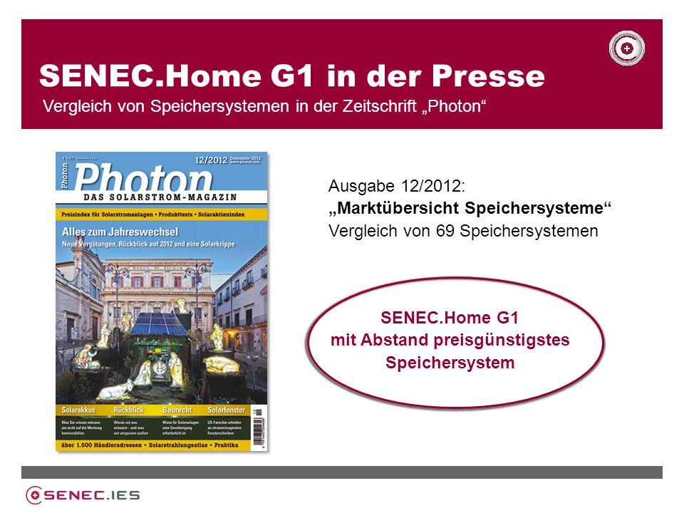 SENEC.Home G1 in der Presse