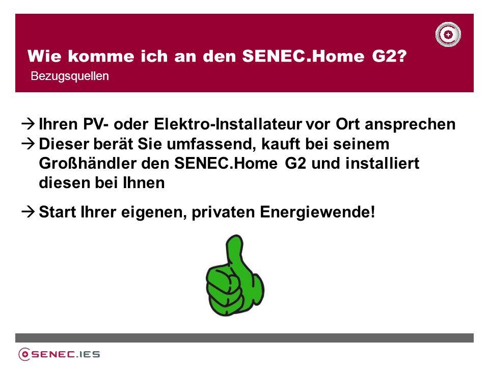 Wie komme ich an den SENEC.Home G2