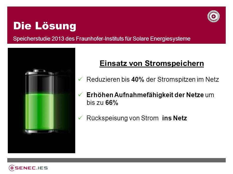 Speicherstudie 2013 des Fraunhofer-Instituts für Solare Energiesysteme