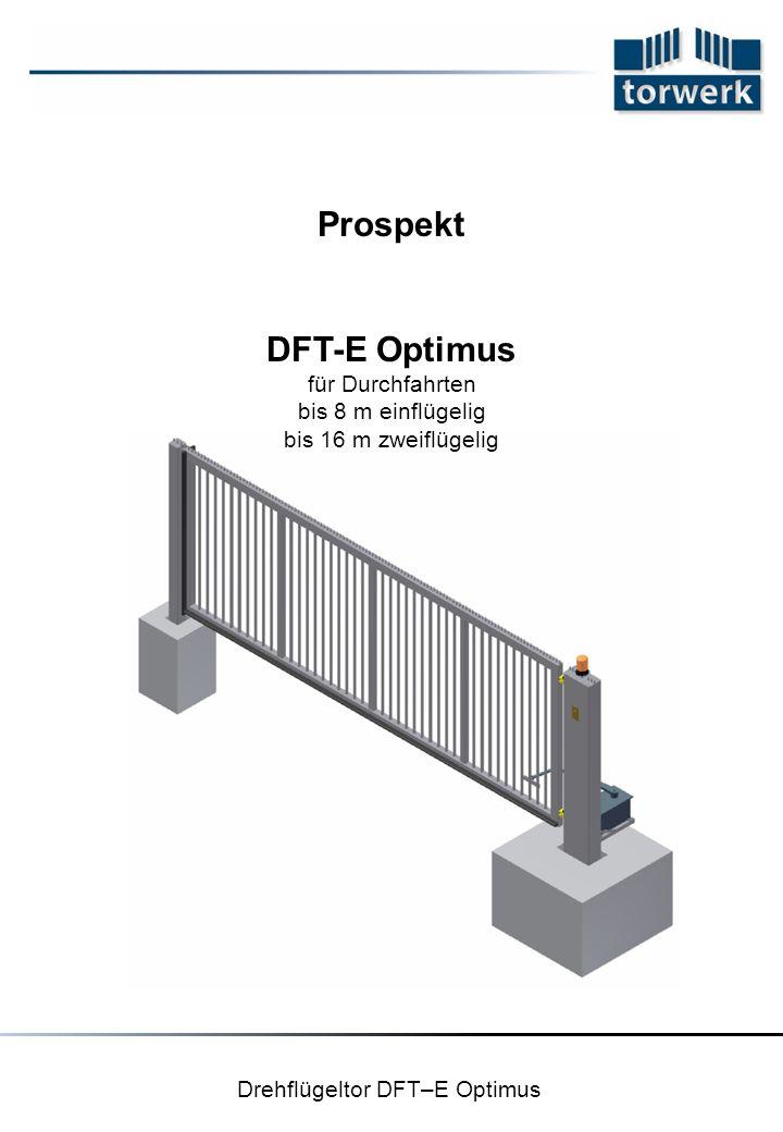 Drehflügeltor DFT–E Optimus