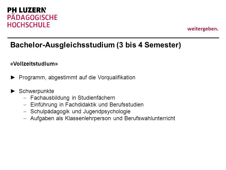 Bachelor-Ausgleichsstudium (3 bis 4 Semester)