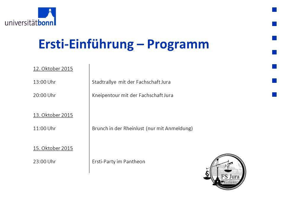 Ersti-Einführung – Programm