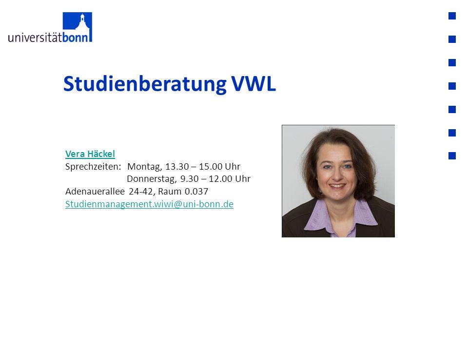 Studienberatung VWL Vera Häckel