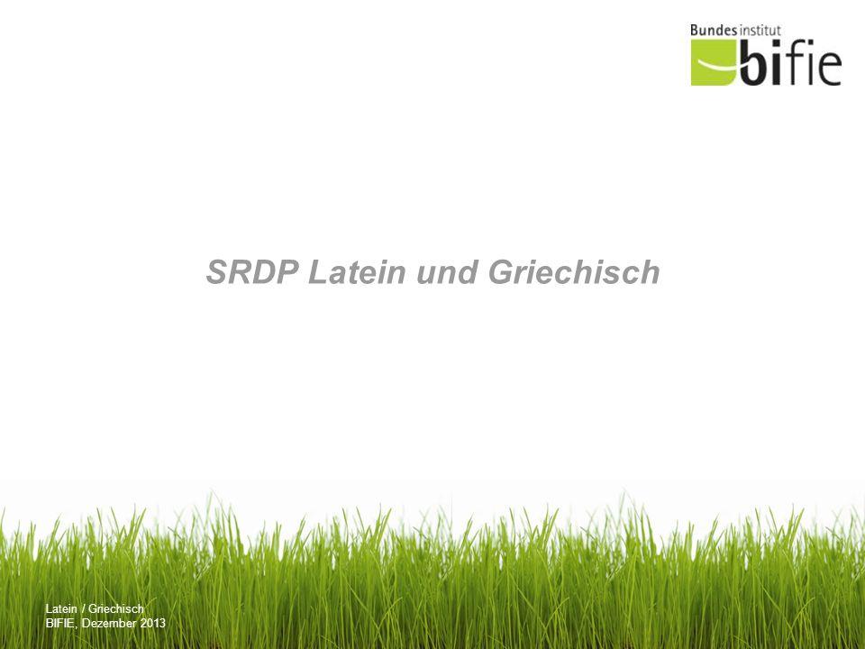 SRDP Latein und Griechisch
