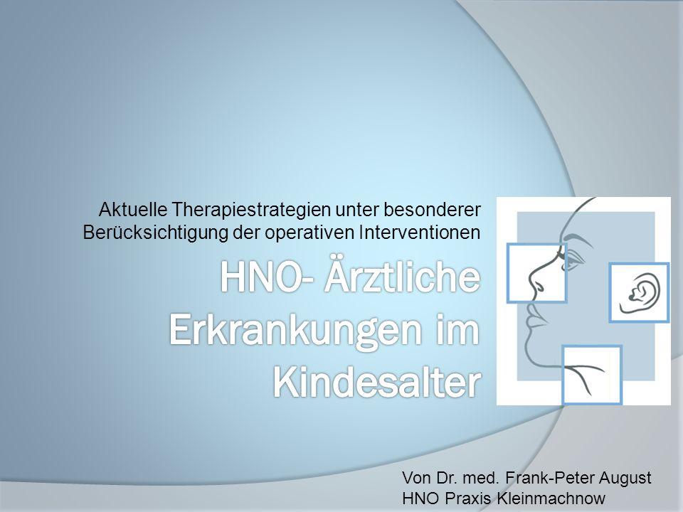 HNO- Ärztliche Erkrankungen im Kindesalter