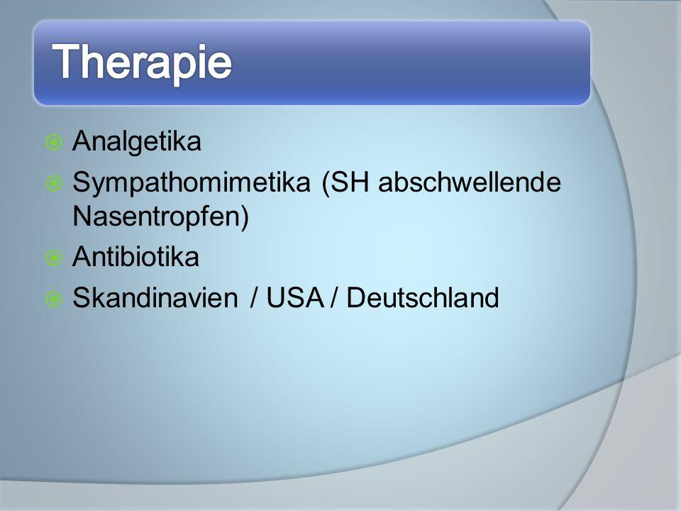 Sympathomimetika (SH abschwellende Nasentropfen) Antibiotika