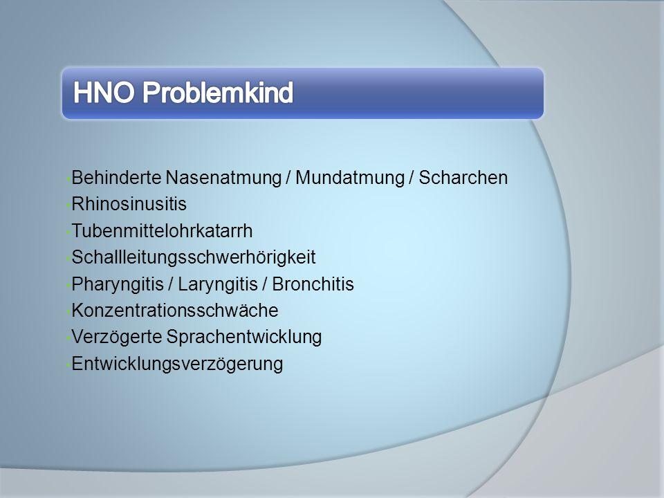 Behinderte Nasenatmung / Mundatmung / Scharchen Rhinosinusitis