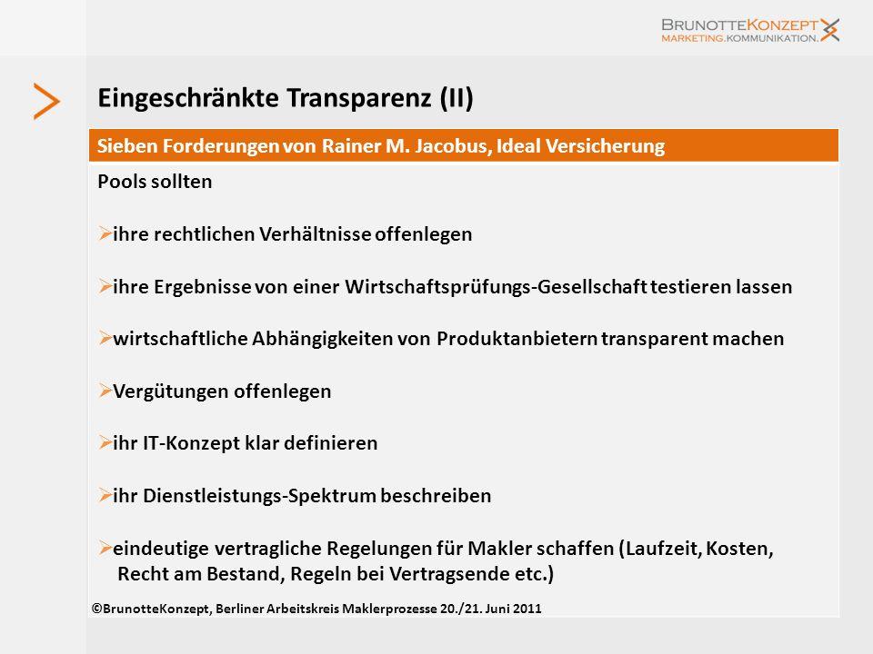 Eingeschränkte Transparenz (II)