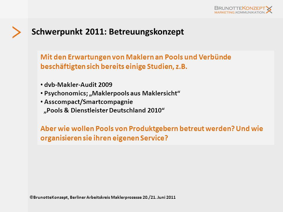 Schwerpunkt 2011: Betreuungskonzept