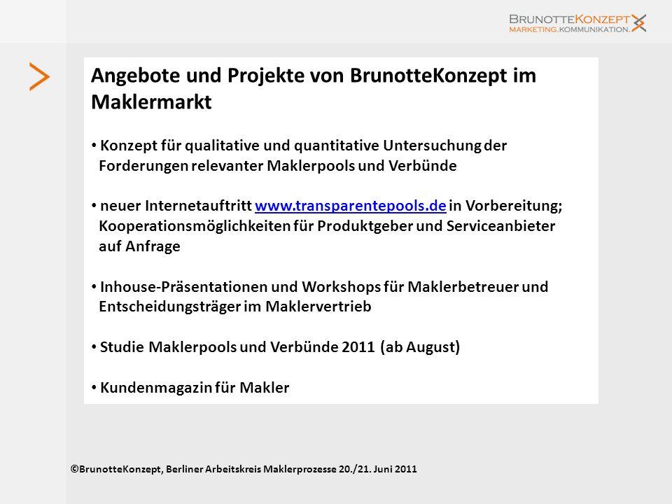 Angebote und Projekte von BrunotteKonzept im Maklermarkt