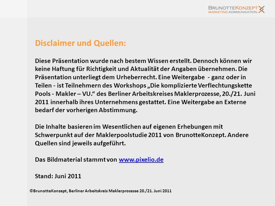 Disclaimer und Quellen: