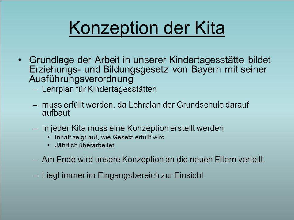 Konzeption der Kita