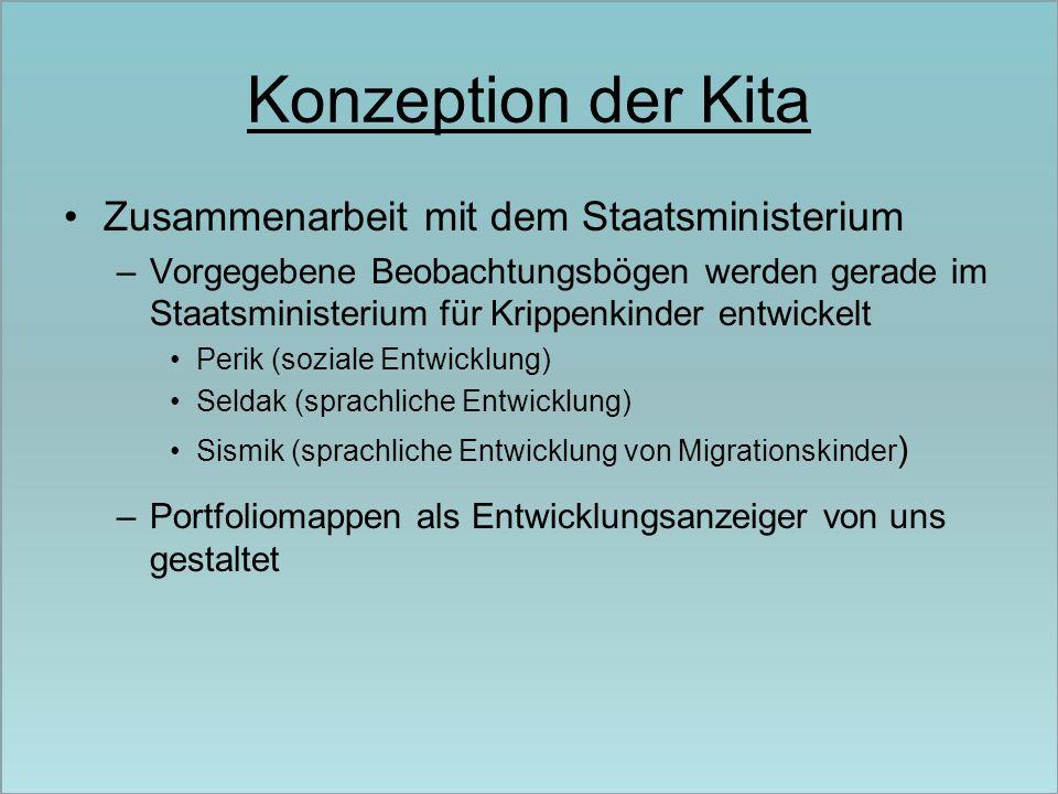 Konzeption der Kita Zusammenarbeit mit dem Staatsministerium