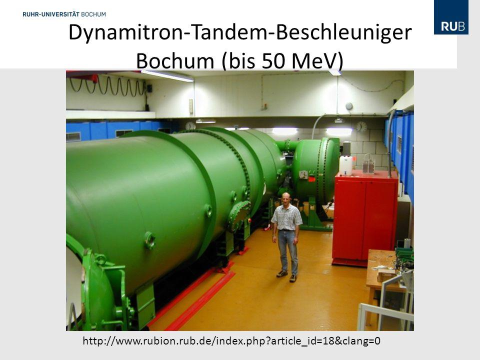 Dynamitron-Tandem-Beschleuniger Bochum (bis 50 MeV)