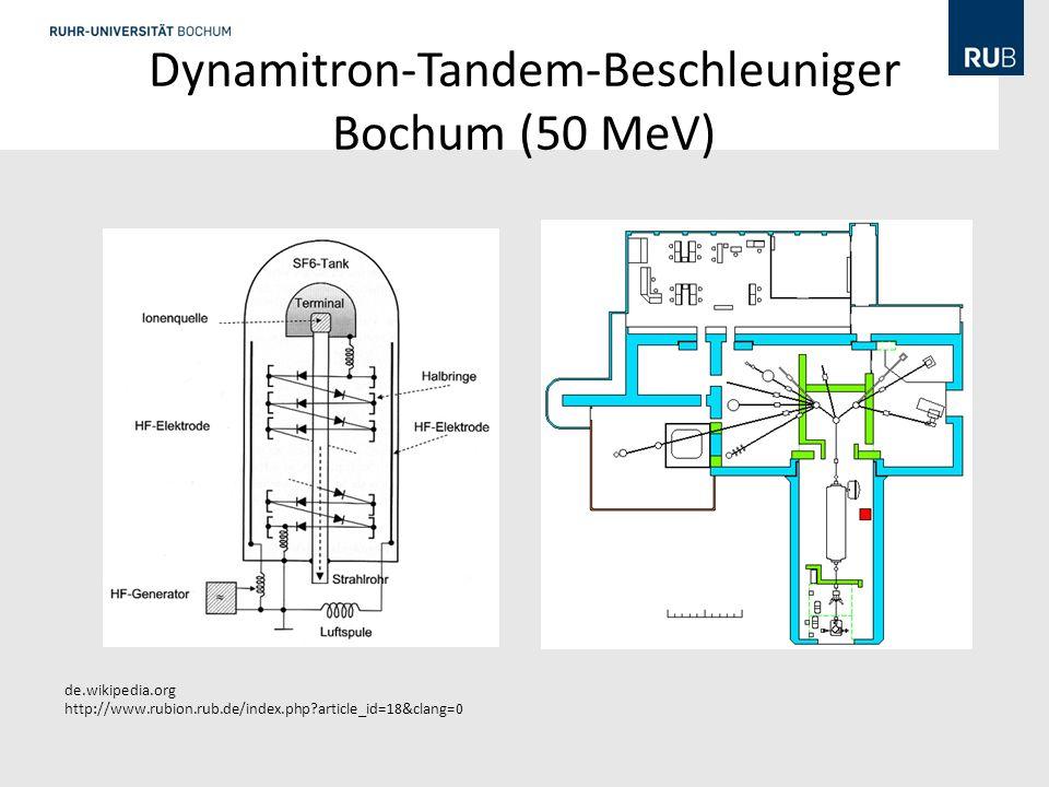 Dynamitron-Tandem-Beschleuniger Bochum (50 MeV)