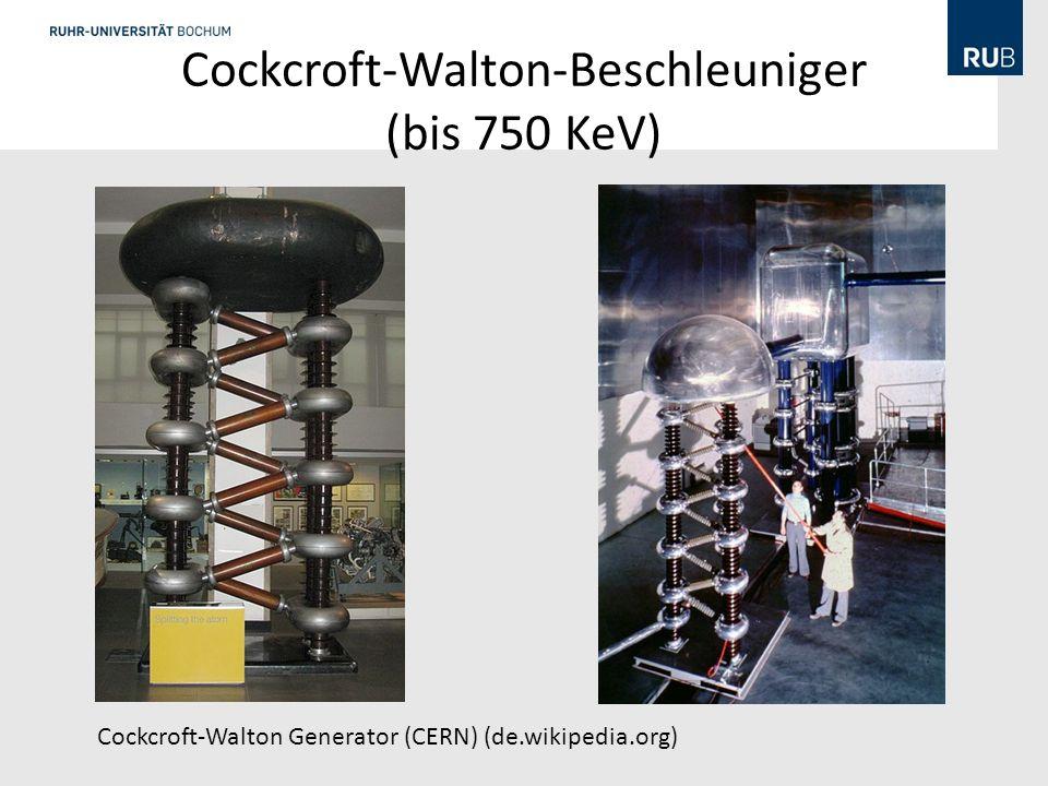 Cockcroft-Walton-Beschleuniger (bis 750 KeV)