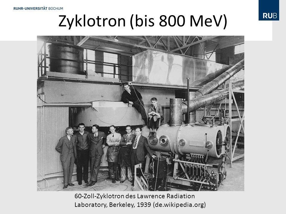 Zyklotron (bis 800 MeV) 60-Zoll-Zyklotron des Lawrence Radiation Laboratory, Berkeley, 1939 (de.wikipedia.org)