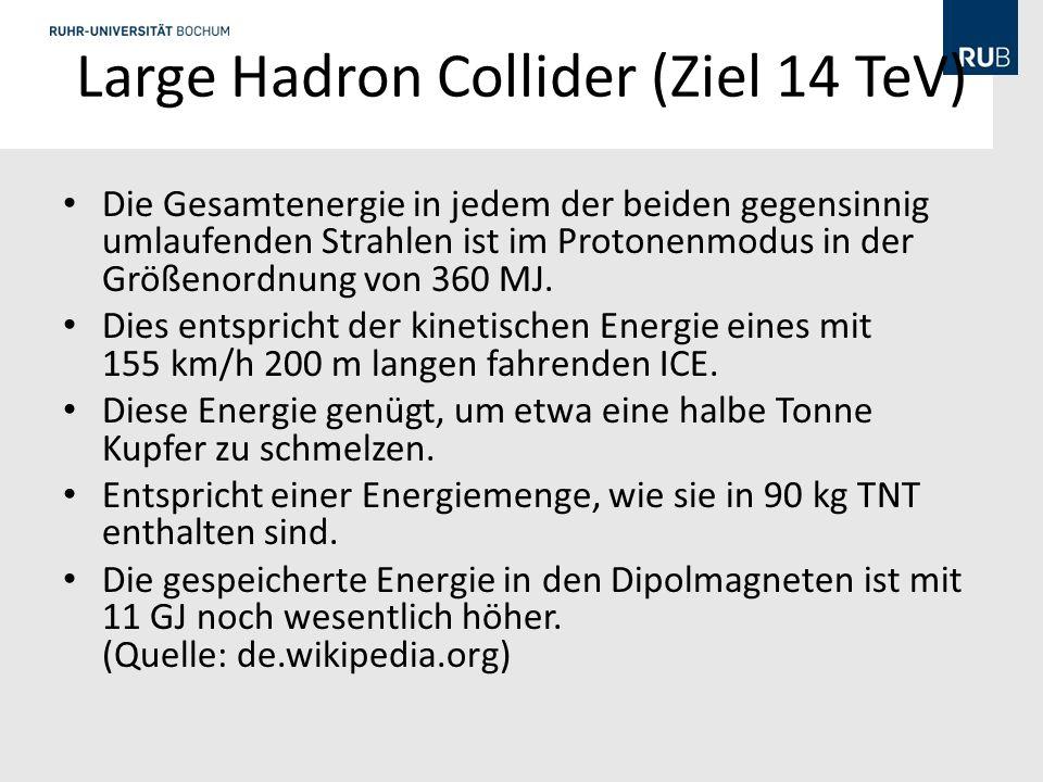 Large Hadron Collider (Ziel 14 TeV)