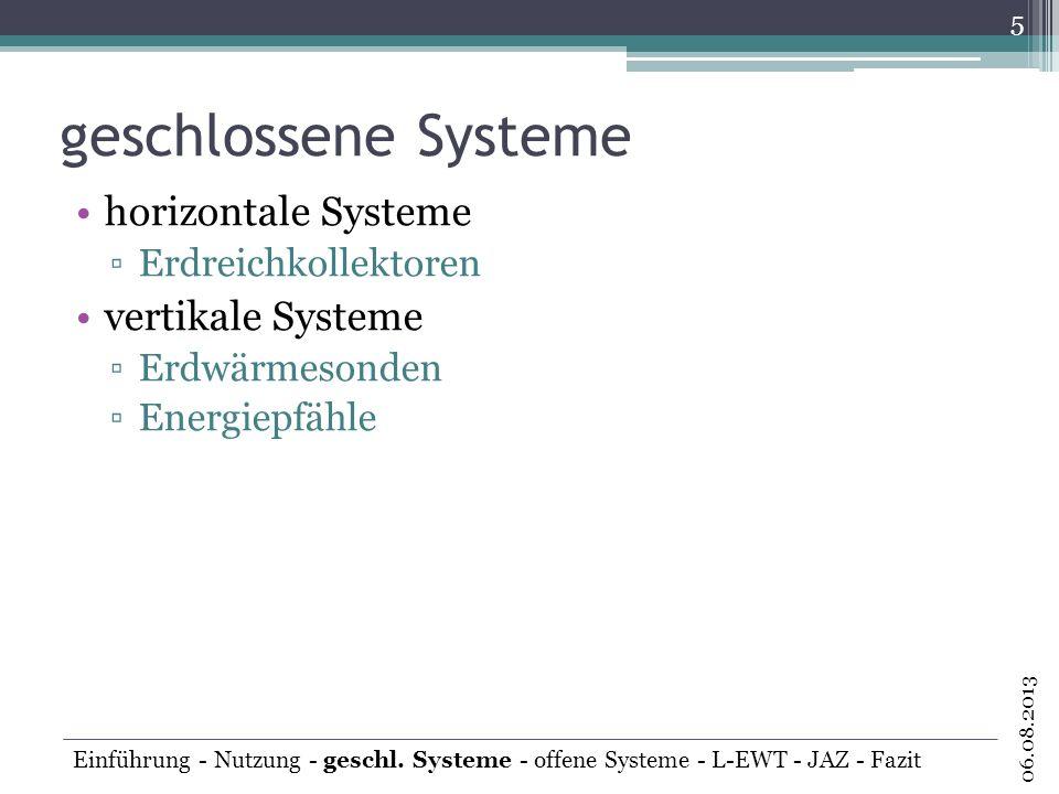 geschlossene Systeme horizontale Systeme vertikale Systeme