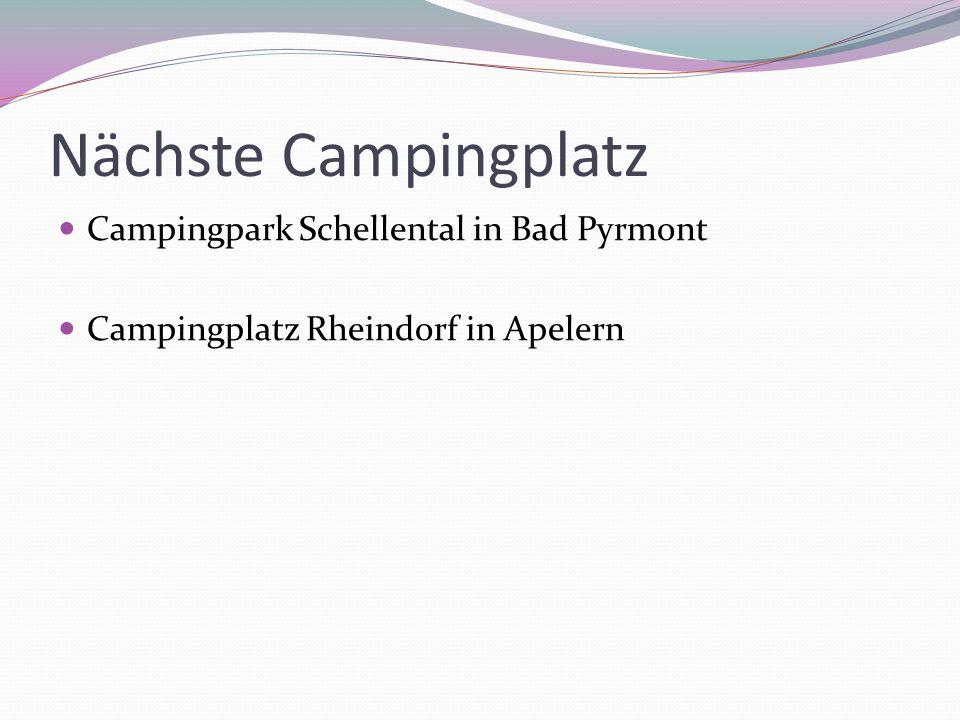 Nächste Campingplatz Campingpark Schellental in Bad Pyrmont