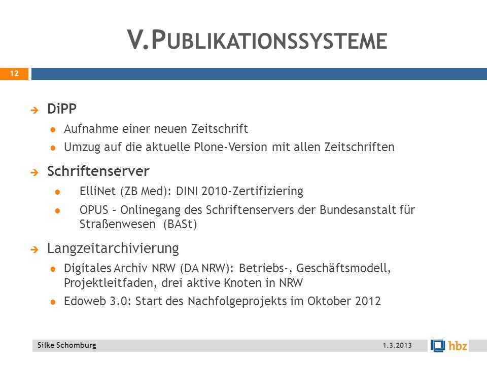 V.Publikationssysteme