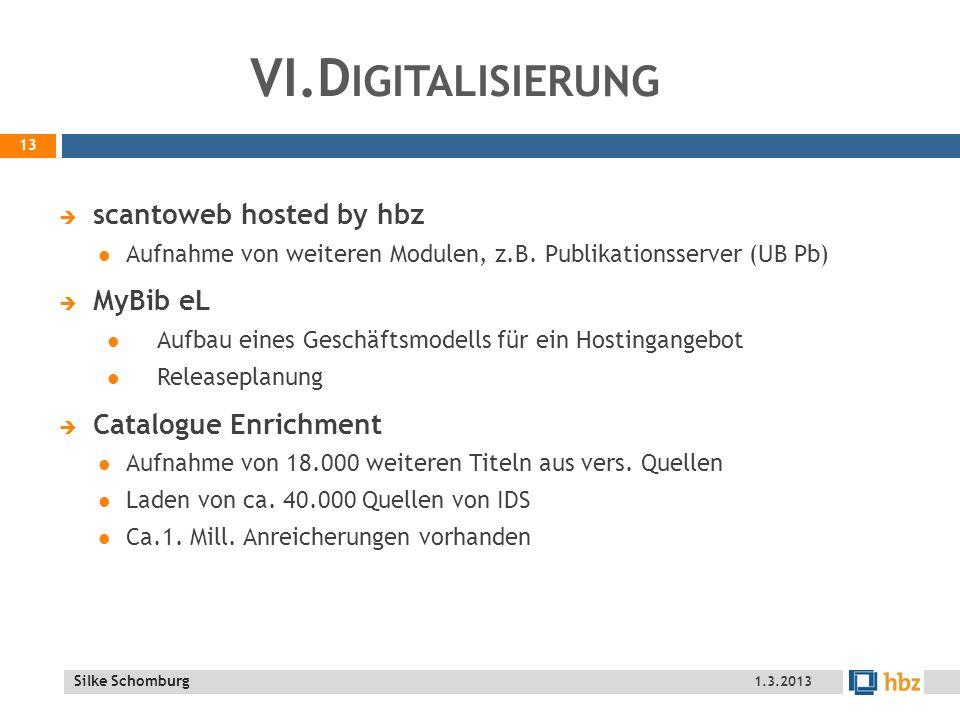 VI.Digitalisierung scantoweb hosted by hbz MyBib eL